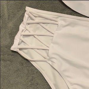 Swim - Women's White Crisscross Swimsuit